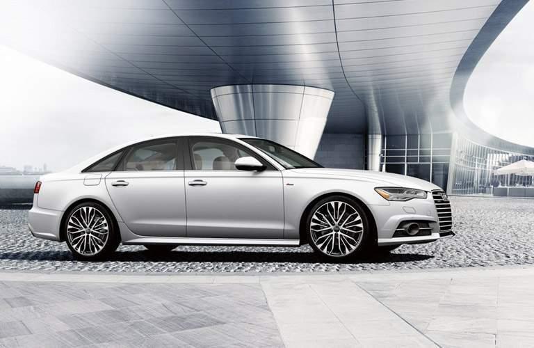 white Audi A6 side view