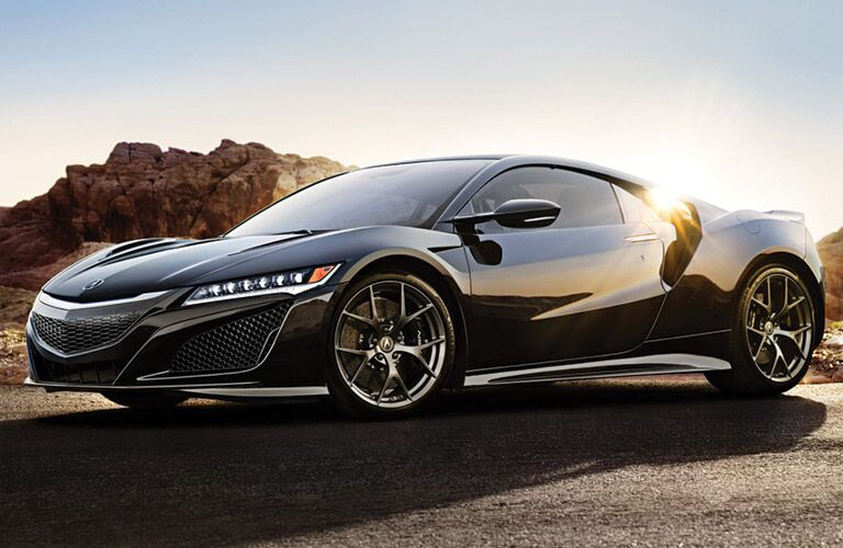 black Acura NSX side view