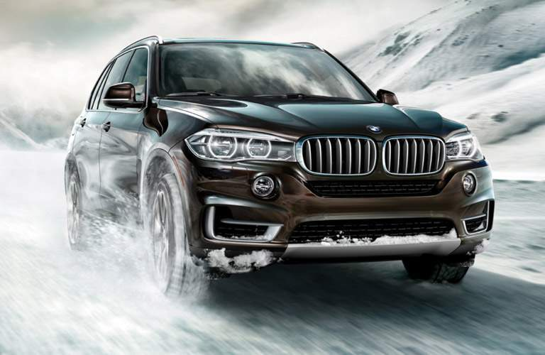 black 2018 BMW X5 front view