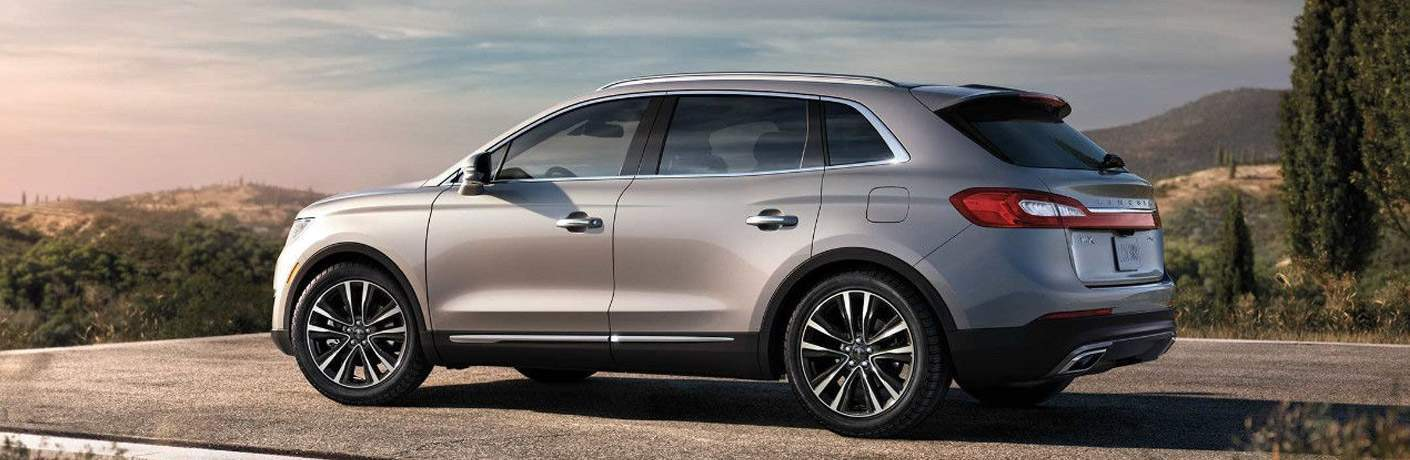 2018 Lincoln MKX exterior side looking over a scenic view