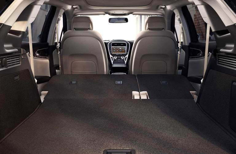 2018 Lincoln MKX cargo space with rear seats folded down