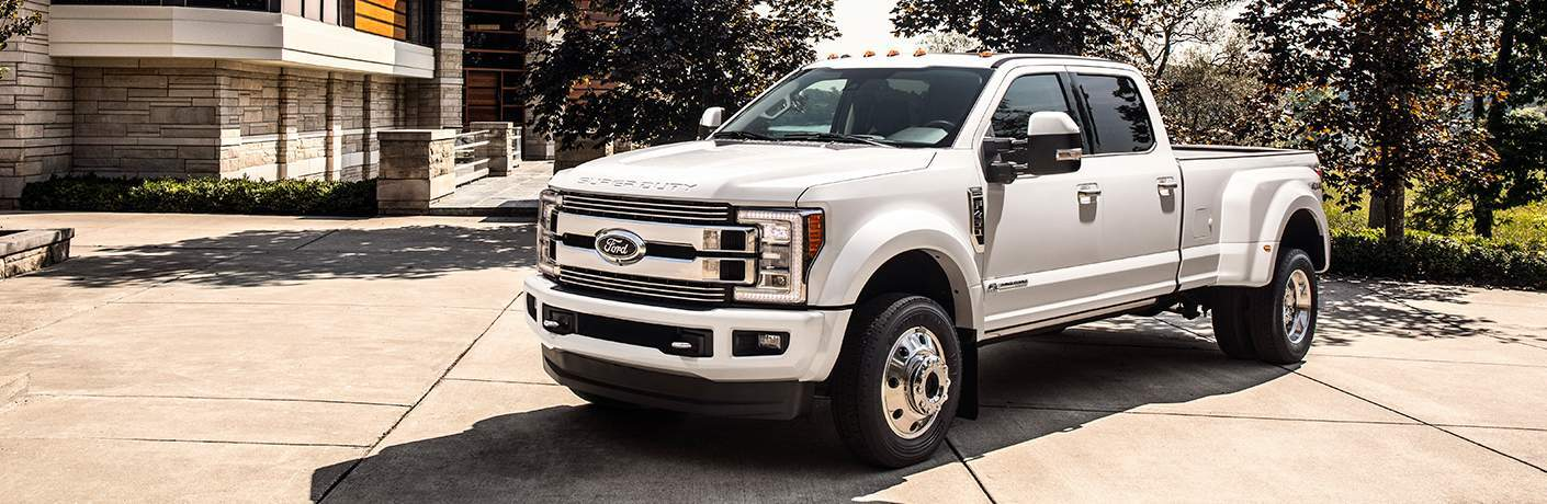 2018 ford super duty limited parked full view