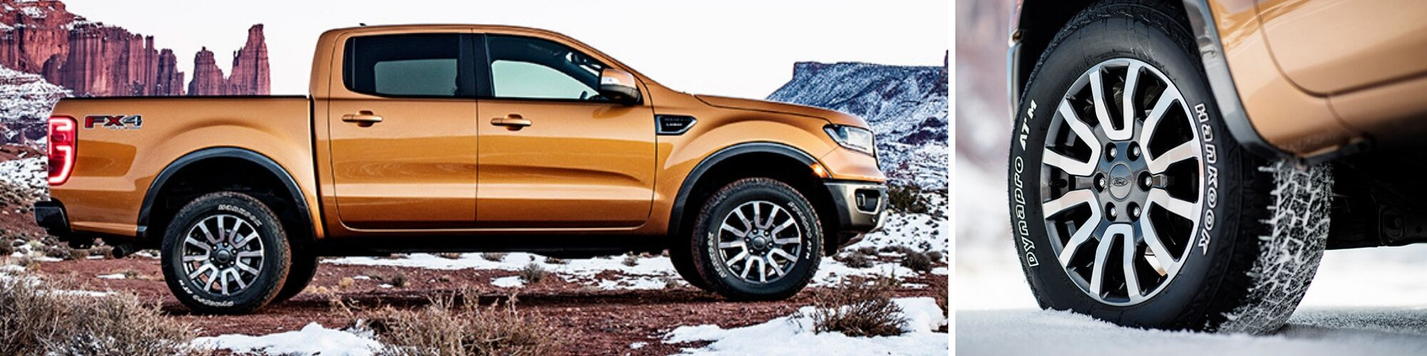 2019 ford ranger side view and wheel detail