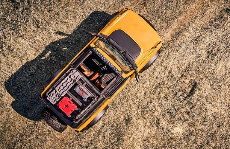 2021 Ford Bronco viewed from above