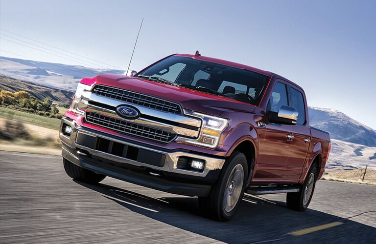 2020 Ford F-150 cruising down the road