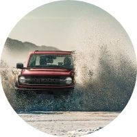 2021 Ford Bronco fording through water