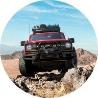 2021 Ford Bronco on rocky terrain