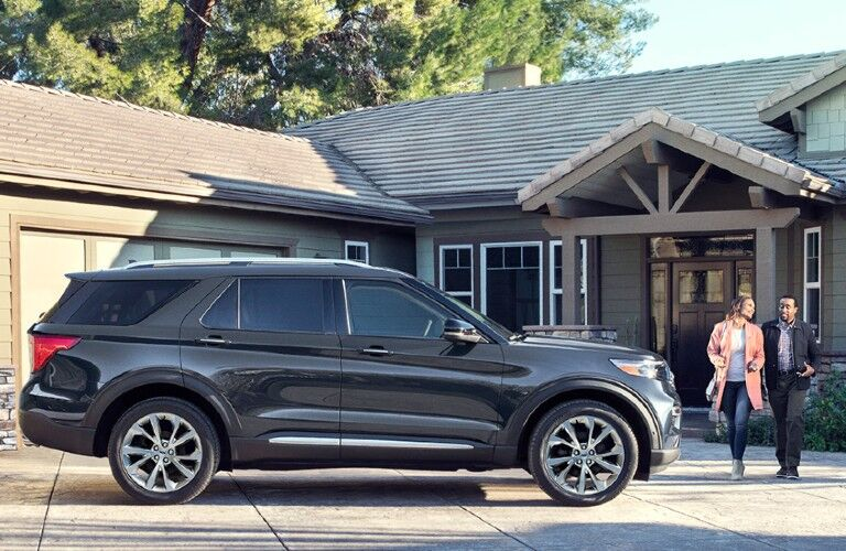 2021 Ford Explorer in residential driveway
