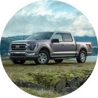 2021 Ford F-150 on Grassy Field by Water's Edge