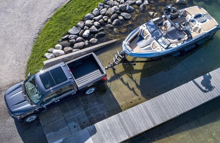 2021 Ford F-150 Pulling a Boat from Water