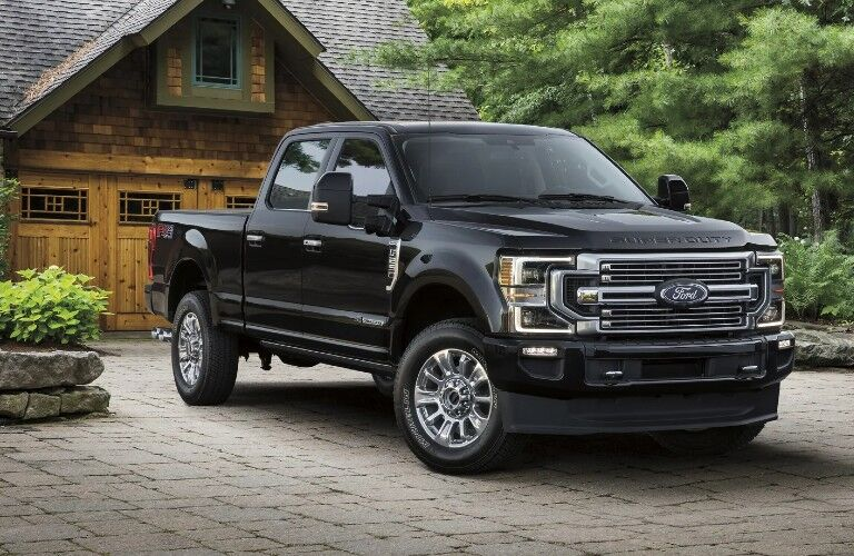 2021 Ford Super Duty in residential driveway