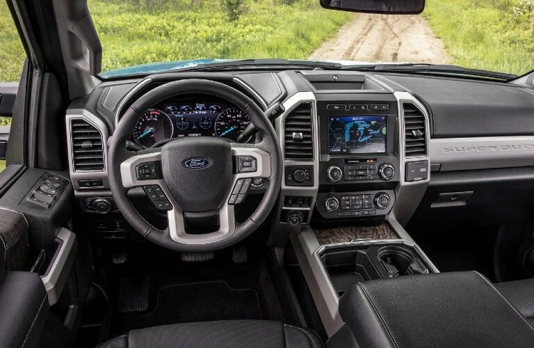 2021 Ford Super Duty dashboard and steering wheel