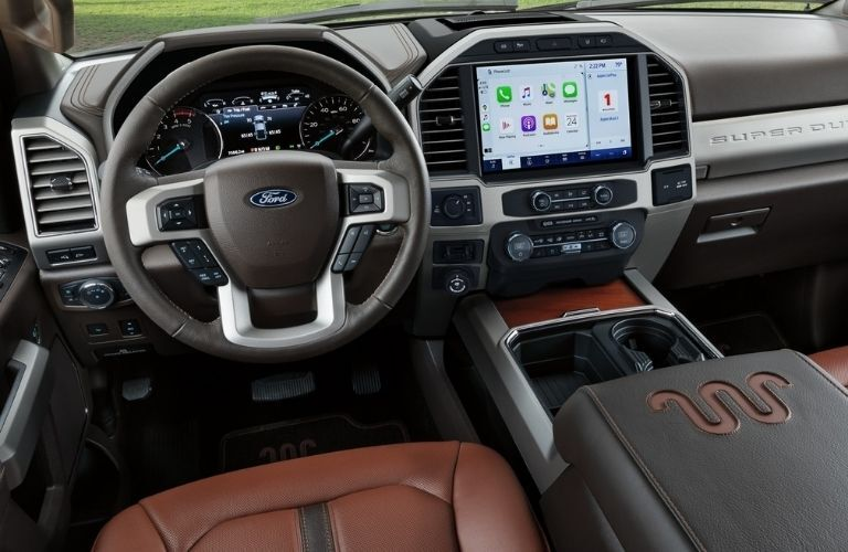 2022 Ford Super Duty King Ranch Interior Cabin View