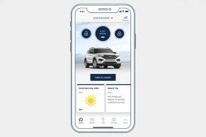 FordPass screen on smartphone