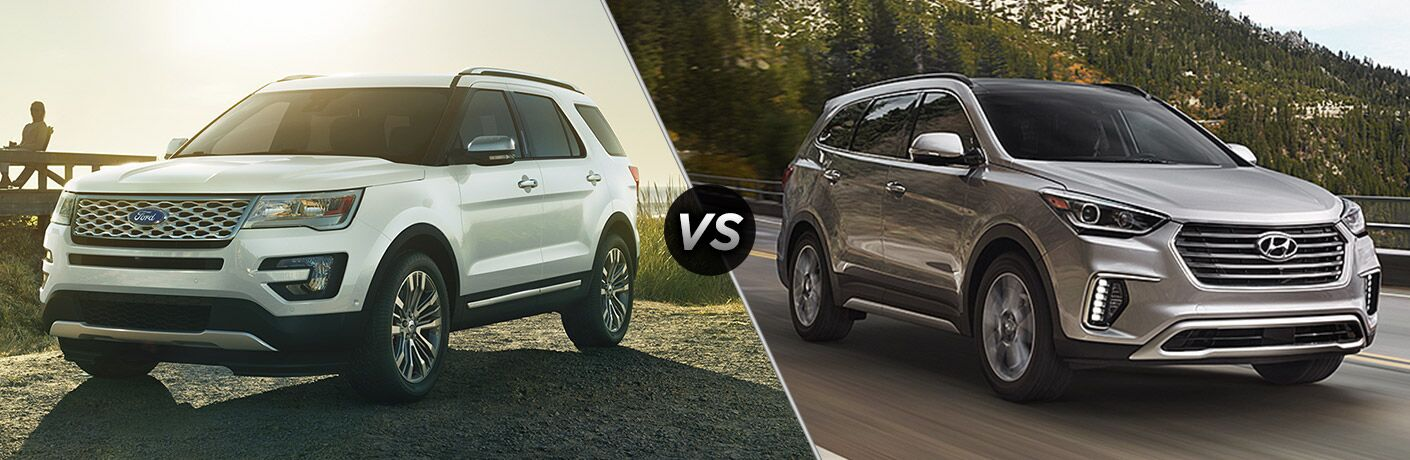2017 Ford Explorer vs 2017 Hyundai Santa Fe
