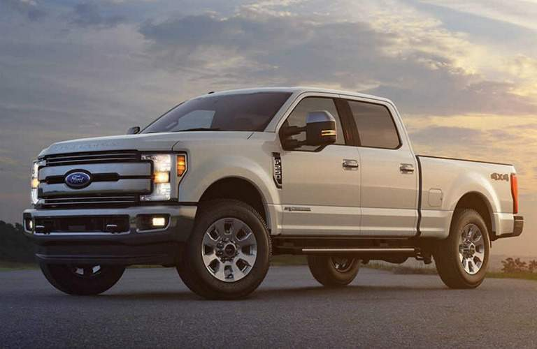 2017 Ford F-250 white side view