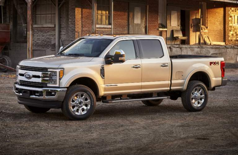 2017 Ford F-350 white side view