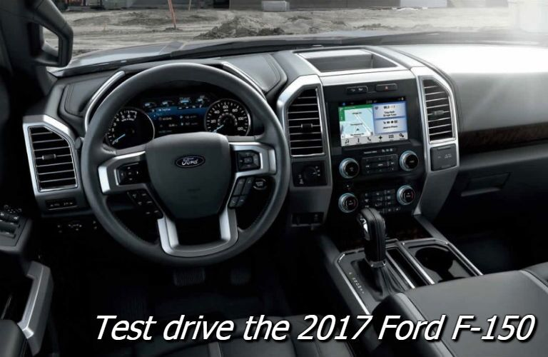 test drive the 2017 ford f-150 lariat in fond du lac wi