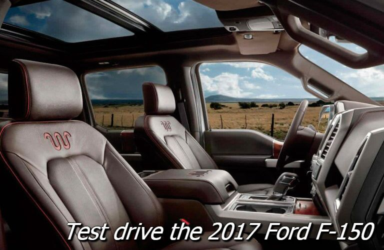 test drive the 2017 ford f-150 in fond du lac