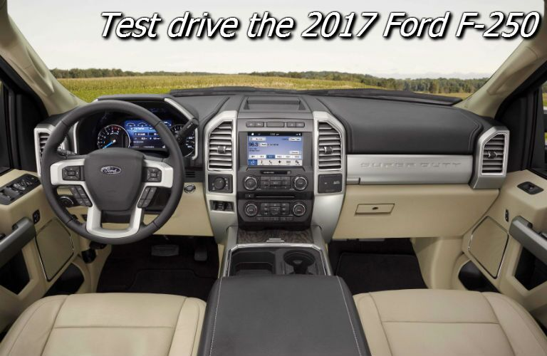where can i test drive the 2017 ford super duty in fond du lac county?