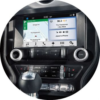 tech features in the 2017 mustang