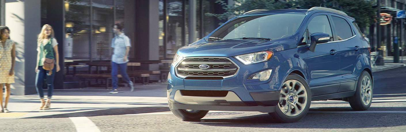 2018 Ford EcoSport blue side view
