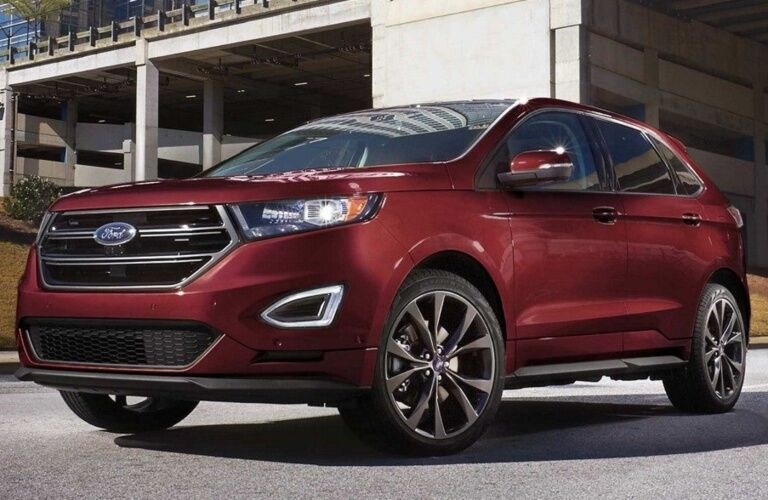 2018 Ford Edge Sport red front side view
