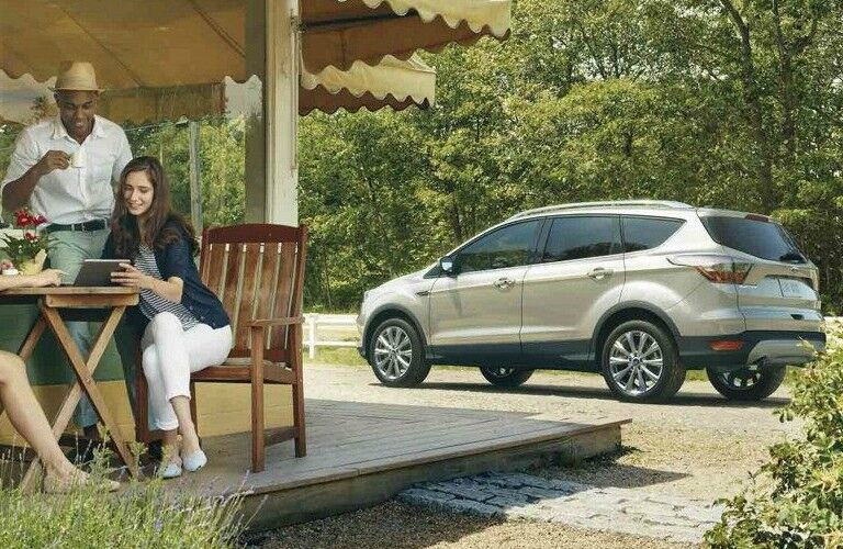 2018 Ford Escape gold side view