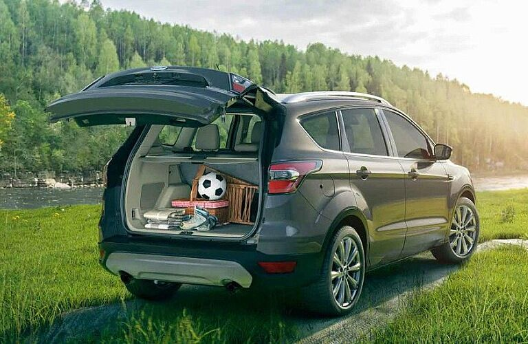 2018 Ford Escape gray with liftgate open