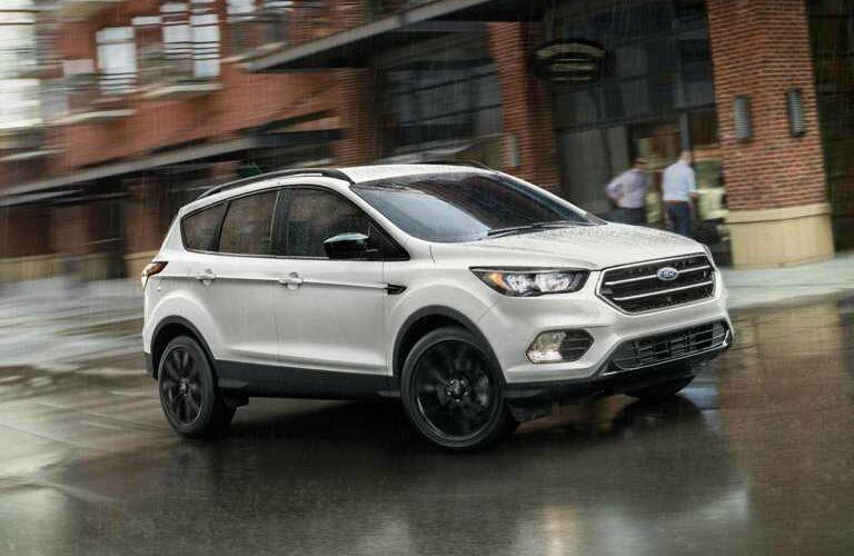 2018 Ford Escape white side view in the rain
