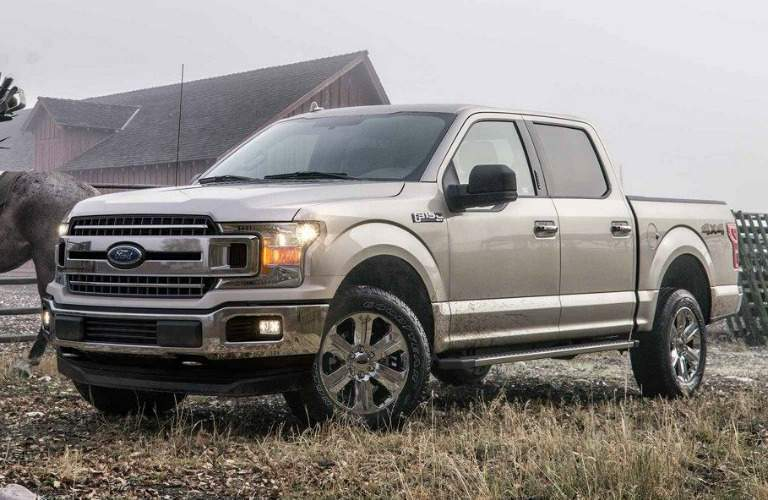 2018 Ford F-150 tan side view