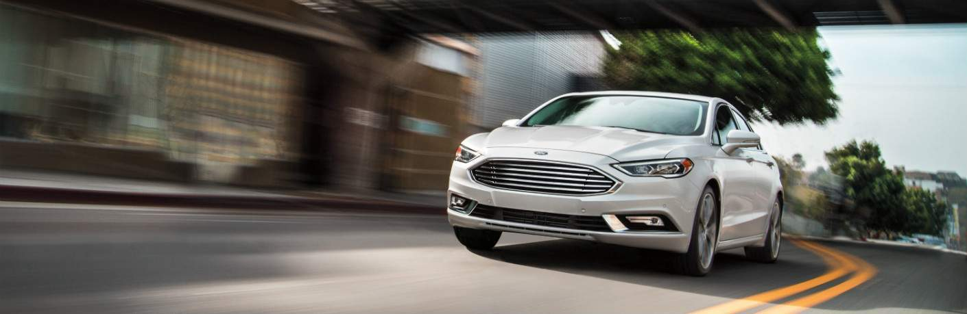 2018 Ford Fusion white front view
