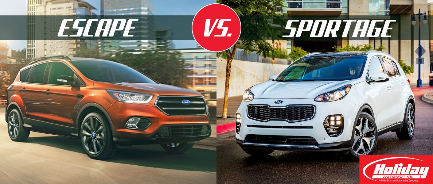 2017 Ford Escape vs 2017 Kia Sportage