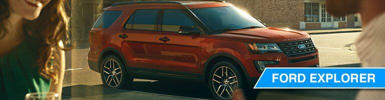 2018 Ford Explorer orange side view