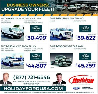 Upgrade Your Fleet at Holiday Ford in Fond du Lac