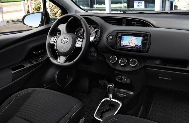 Interior view of 2015 Toyota Yaris