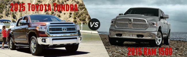 2015 Toyota Tundra vs 2015 Ram 1500