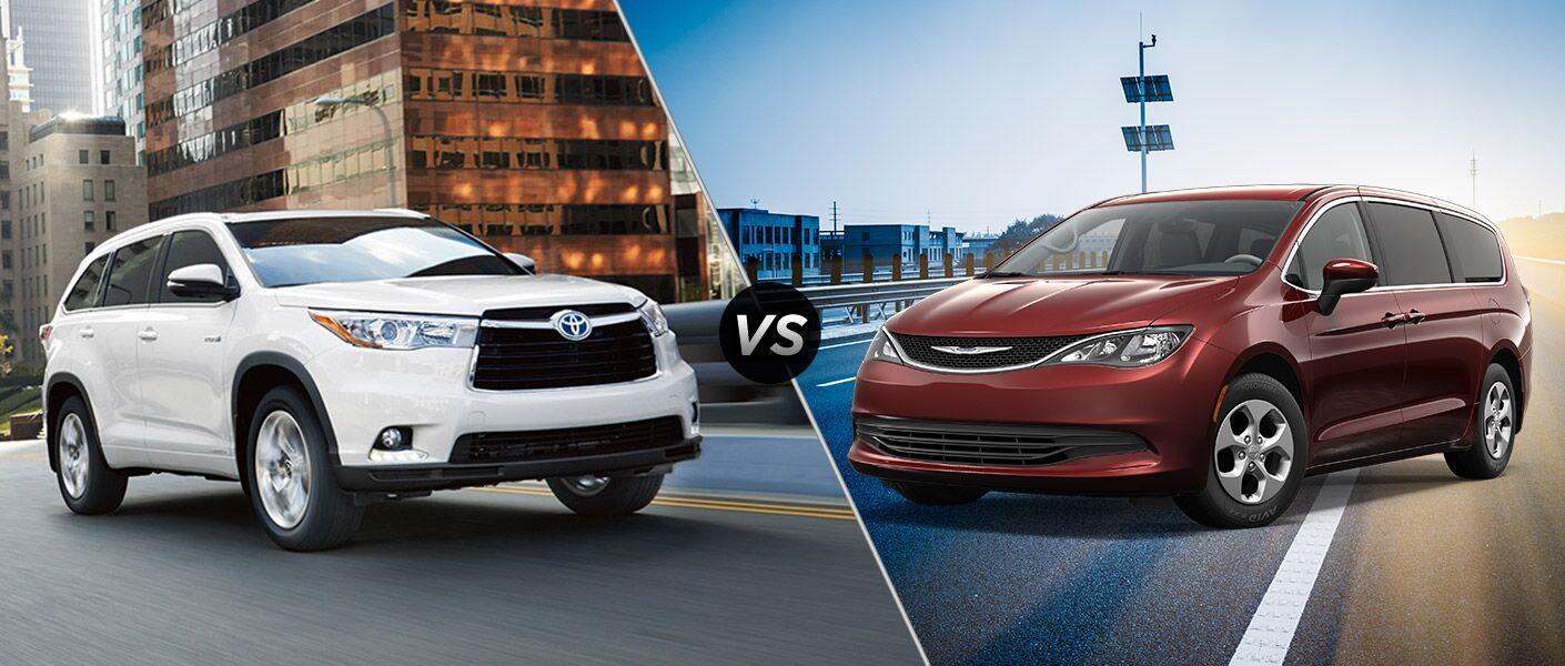 2016 Toyota Highlander vs 2017 Chrysler Pacifica