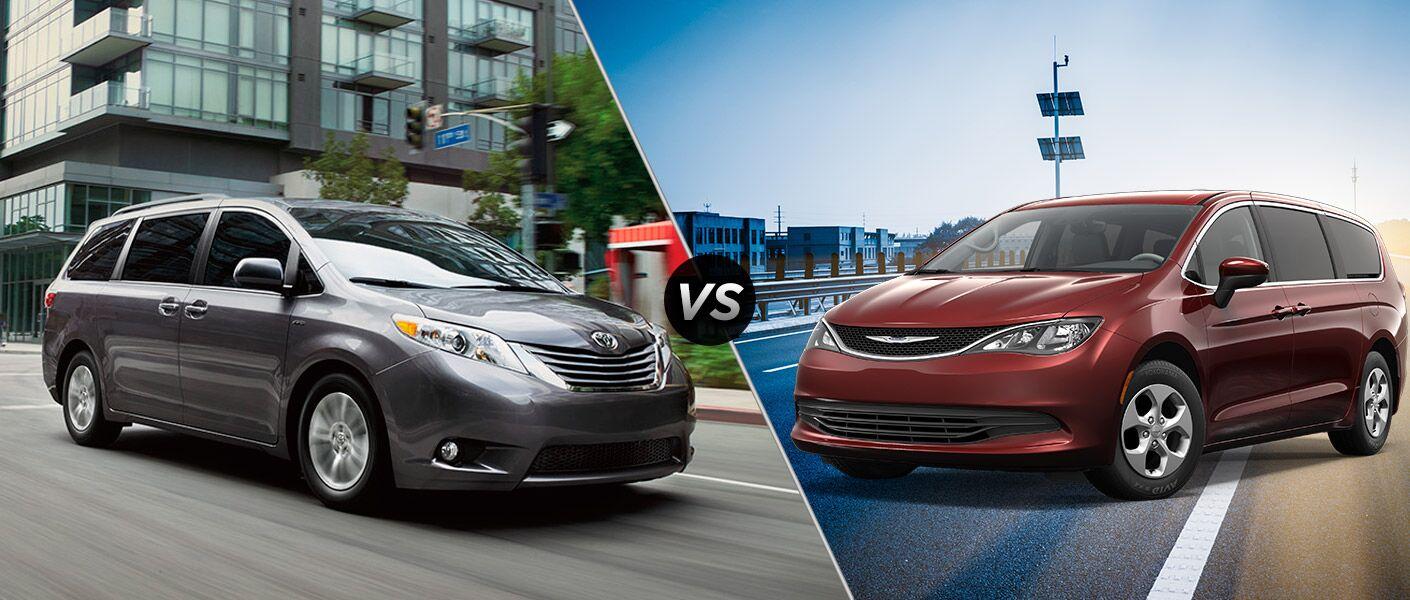 2016 Toyota Sienna vs 2017 Chrysler Pacifica