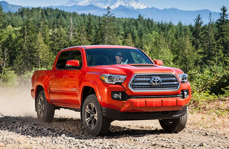 Toyota Tacoma Orange Exterior View