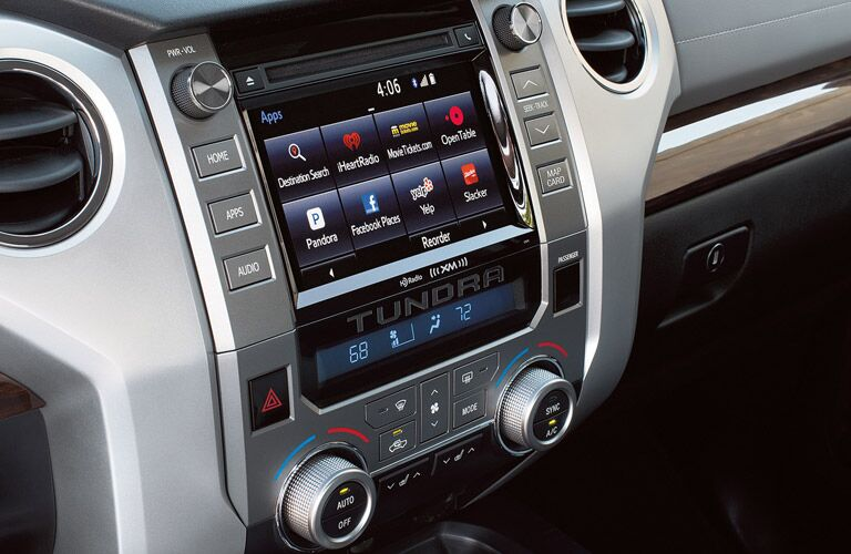 Infotainment center in 2016 Toyota Tundra