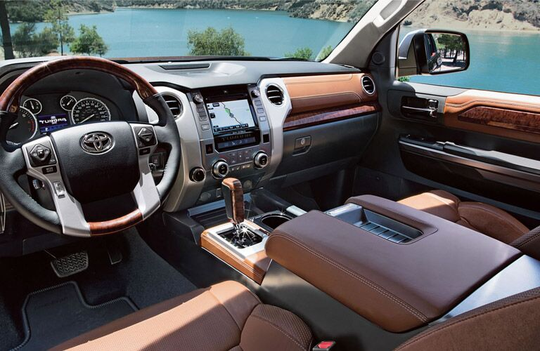 Interior view of 2016 Toyota Tundra