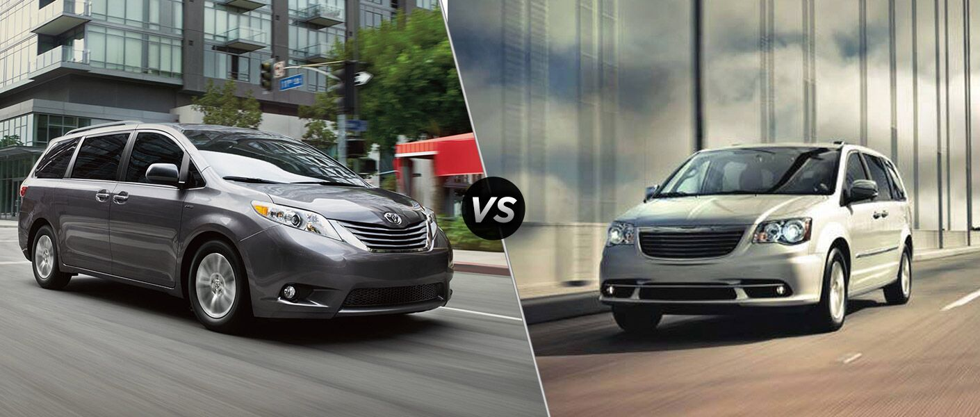 Town And Country Toyota >> 2016 Toyota Sienna Vs 2016 Chrysler Town Country