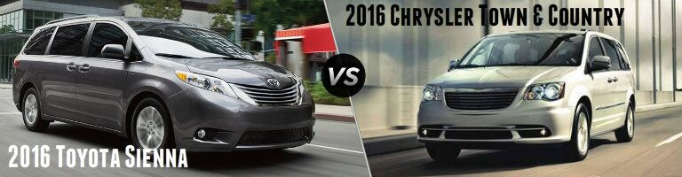 2016 Toyota Sienna vs 2016 Chrysler Town & Country
