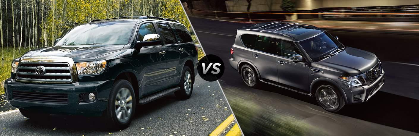 2017 Toyota Sequoia vs 2017 Nissan Armada