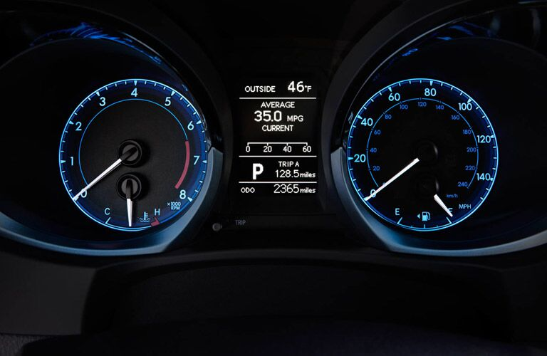 Gauges in 2017 Toyota Corolla