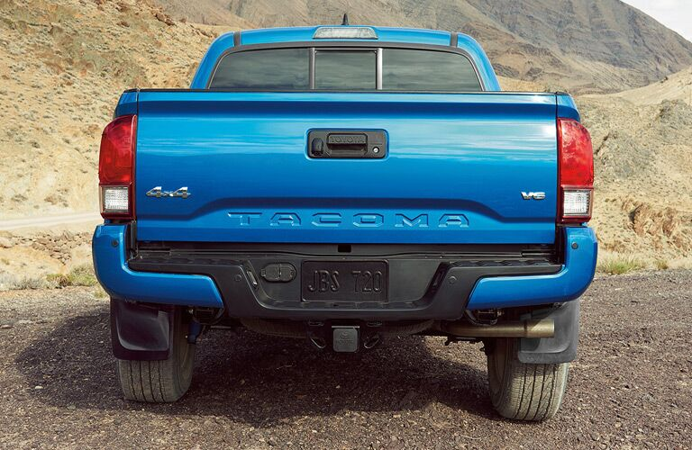 2017 Toyota Tacoma rear exterior and badging