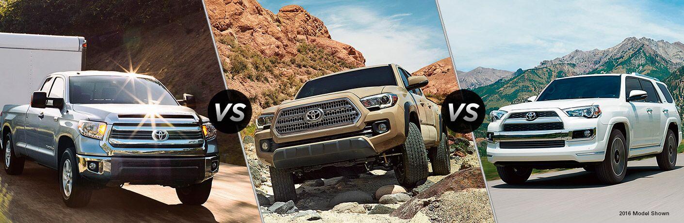 2017 Toyota Tundra vs 2017 Toyota Tacoma vs 2017 Toyota 4Runner