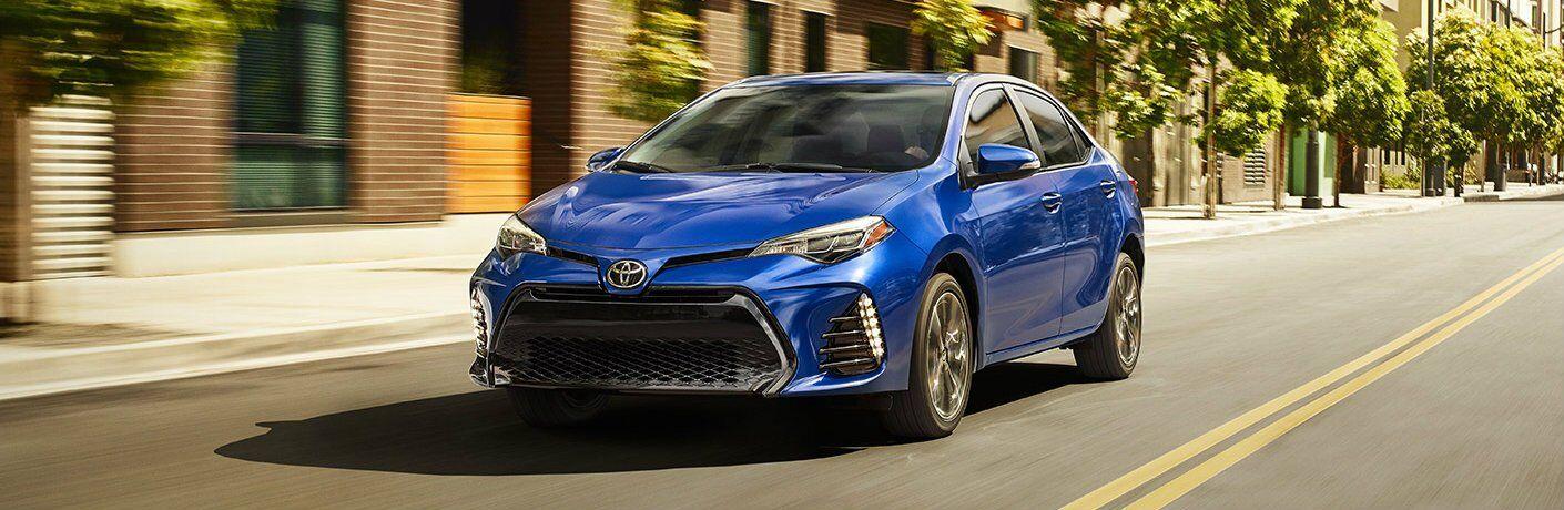 Blue 2017 Toyota Corolla
