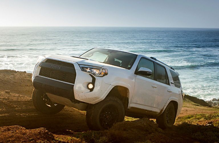 2017 Toyota 4Runner TRD Pro View of Side and Front End in White
